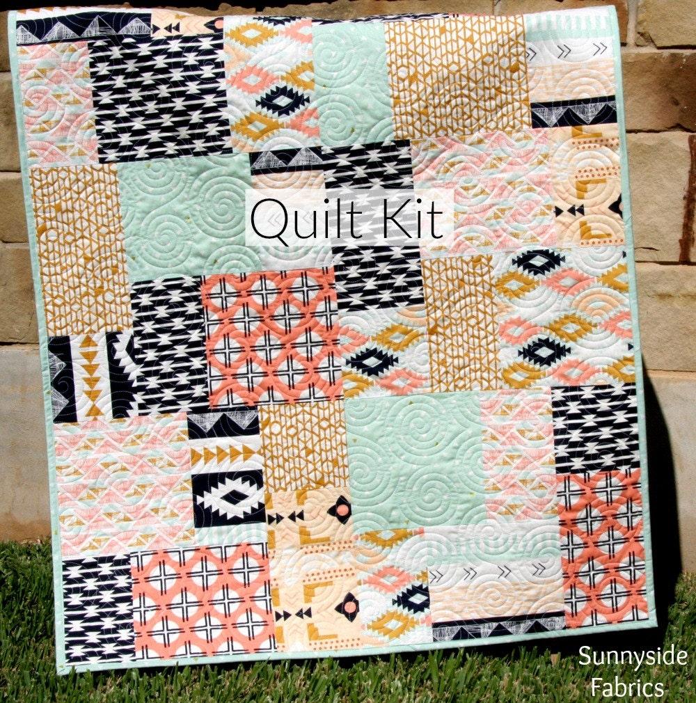 Line Art Quilt Kit : Arizona quilt kit tribal baby bedding blanket project