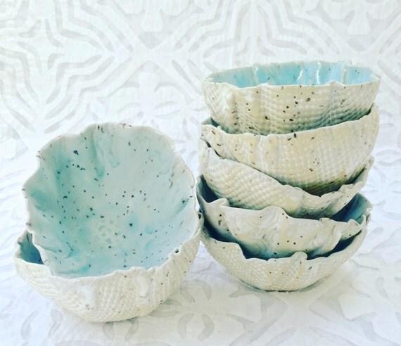 Ceramic Bowl, Robins Egg Blue Bowl, turquoise bowl, organic shape, serving bowl, stoneware, dip bowl, pastel bowl, nut bowl, snack bowl
