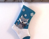 Wolf Personalized Christmas Stocking by Allenbrite Studio