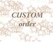 Custom order  : Burlap favor bags 80 pc 3x5inch