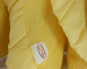 CHATHAM Wool Blanket Lemon Yellow