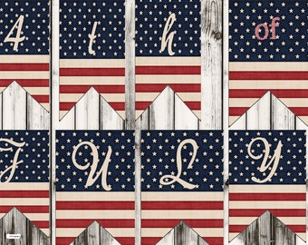 4th of July Banner,4th of July Party banner, birthday banner, custom birthday banner, July 4th party banner, Independence Day banner