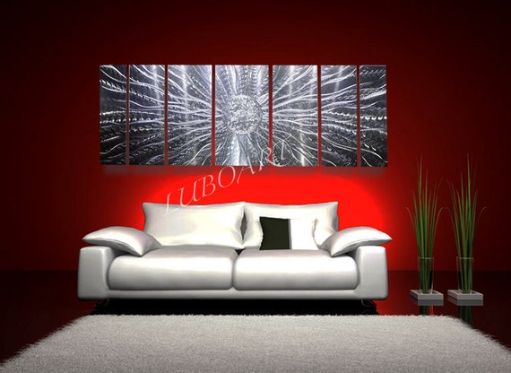 Abstract Metal Modern Wall Art 66 Long Sculpture Home By