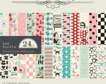 """Authentique Paper """"Fabulous"""" Collection 6x6 Pad"""
