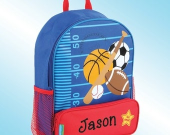Backpack - Personalized and Embroidered - Sidekick Backpack - SPORTS