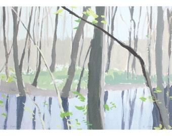 "5x7"" print - landscape art - ""Marsh 1"""