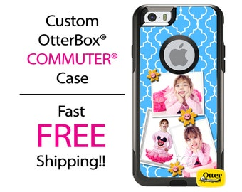 iPhone OtterBox Commuter Case for iPhone 7, 7 Plus, 6/6s, 6 Plus/6s Plus, 5/5s/SE, 5c Galaxy S7 S6 S5 Note 5 Personalized 3 Photo Collage