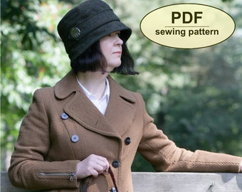 New: Sewing pattern to make the Heacham Cloche Hat - PDF hat pattern INSTANT DOWNLOAD