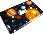 PLANETS SOLAR SYSTEM Light Switch Cover Plate Switchplate Planet Science Decor