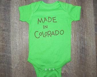 Made in CO onesie