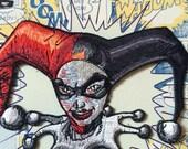 Harley Quinn Face Batman Villain Gotham Joker Official DC Comics Iron On Applique Patch comes with instructions