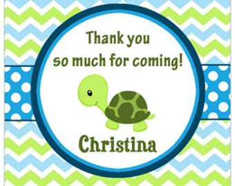 Turtle Tag Printable or Printed with FREE SHIPPING - ANY Wording -Personalized Turtle Tag or Sticker - One Special Turtle