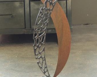 Freestanding Metal Sculpture, Rustic Modern Art, Recycled Metal Garden Art, Abstract Metal Sculpture, Table Top Scupture, Recycled Metal