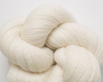 Cloud Recycled Merino Yarn, 835 Yards Available, Cream Lace Weight Merino, Ivory Lace Weight Merino Yarn