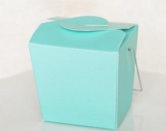 Take Out Box-12 Take Out Favor Boxes in Robin Blue/ Aqua