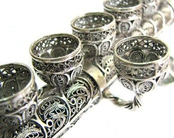 2 In 1 Sterling Silver Hanukkah Menorah & Candlesticks, Jewish Wedding Gift, Holidays Gift, Judaica - Free Express Shipping - ID915