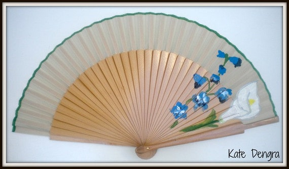 Natural Floral Hand Fan