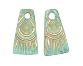 Bronze Tassel Dangles with Patina