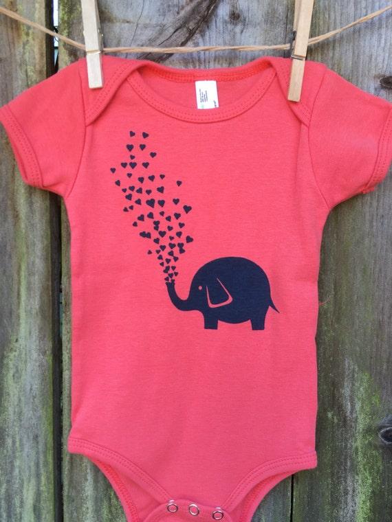 Elephant Love - Organic Infant Short-Sleeve Onesie