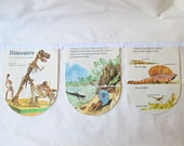 Dinosaur Bunting Children Book Garland Nursery Decor Photography Prop White Paleontology Domum Vindemia Paleontologist Educational History