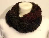 Infinity Scarf Hand Made Homespun by Lion Brand in Praire Color it Features a Mixing of Beautiful Colors