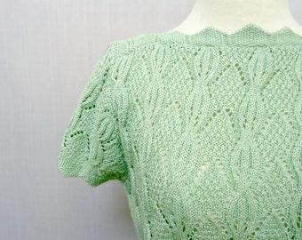 Boat Neck Sweater - Mint - Sweater - Retro Vintage