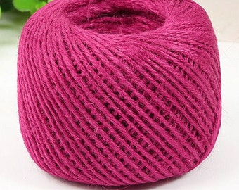 Hot Pink Jute Twine-2mm-5 YDS or 10 YDS