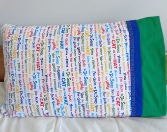 Seuss Stories - Pillowcase Standard Single