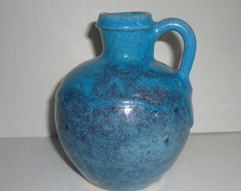 Early Seagrove Pottery Jug Drippy Chinese Blue Glaze Mitchfield Michfield Clay