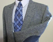 RESERVED for Kendra - upgrade shipping to EXPRESS SERVICE  Vintage Mens Harris Tweed Jacket-Elbow Patches Size 40 Tall-Quality Harris Tweed