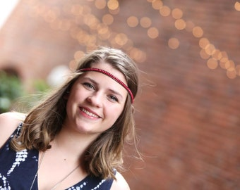 Rockin' Red Beaded Headband