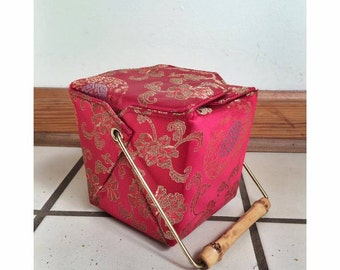 Red Asian Take Out Box Purse
