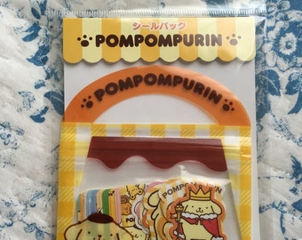 NEW 40 stciker flakes pack Sanrio Pompompurin