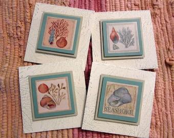 Seashore Mini Cards  Set of 4
