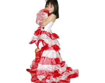 Pageant OOC Valentine Hearts Love Valentine Wear red white be my valentine Talent wear casual wear SASSY Gypsy custom 12 up 10 yrs