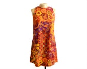 RESERVED Vintage 60s AbEx Floral Shift Dress by Craig