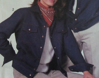 DENIM JACKET Pattern • Simplicity 8177 • Unisex Adult M • Truckers Jacket • Snap Jacket • Unlined Jacket • Vintage Pattern • WhiletheCatNaps