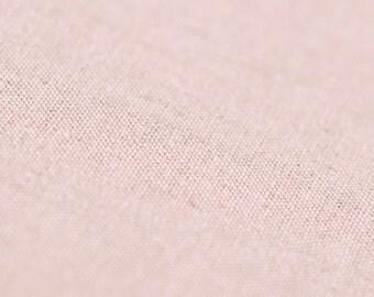 Dusty rose linen fabric by half yard Neutral light pink linen fabric