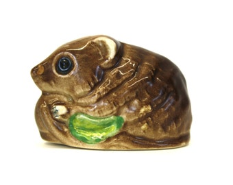 Vintage Hand Painted Made In Wales Bush Baby Figurine (E4082)