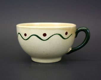 Vintage Metlox Poppytrail Green Rooster Tea Cup (E2520)