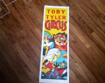 Use CODE50 for 50% OFF Vintage Toby Tyler Yellow Circus Poster, 1960s