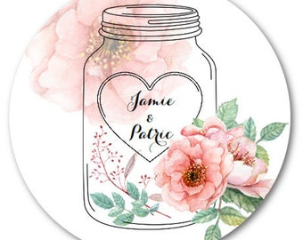 """Custom Stickers, Custom Wedding Stickers, Custom Labels, 3"""" Set of 12 - Made to Order"""