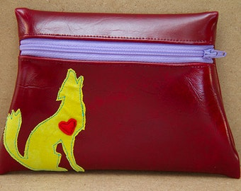 Coyote Red Vinyl Pouch
