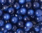 20mm Dark Blue Cats Eye Gumball Beads, Semi-Opaque Acrylic Round Beads, Bubble Gum Beads, Cat's Eye Beads, Reflective Beads  2.5mm Hole