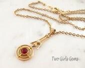 10k gold Victorian lavalier Necklace, Victorian antique Lavaliere, 10k gold pendant,  Two Girls Gems