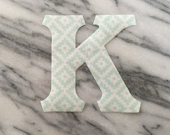 Iron on Greek Letters - set of 3 in mint tribal