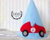 Race Car Felt Party Hat, Race Car Birthday Party