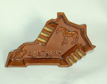 Kentucky state ashtray.