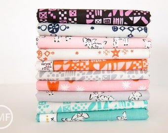 Clover Half Yard Bundle, 10 Pieces, Alexia Marcelle Abegg, Cotton+Steel, RJR Fabrics, 100% Cotton Fabric