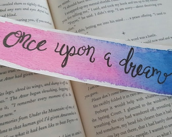 Sleeping Beauty Watercolor Bookmark, Fairytale Bookmark, Once Upon a Dream